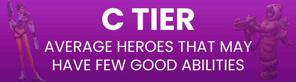 Heroes of the Storm Tier List C Tier