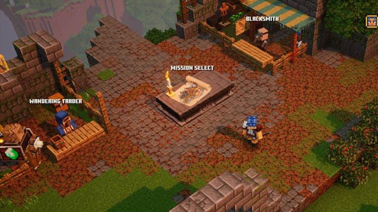 Minecraft Dungeons Campsite