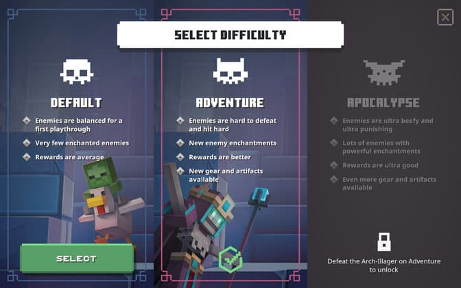 Minecraft Dungeons How To Replay Levels