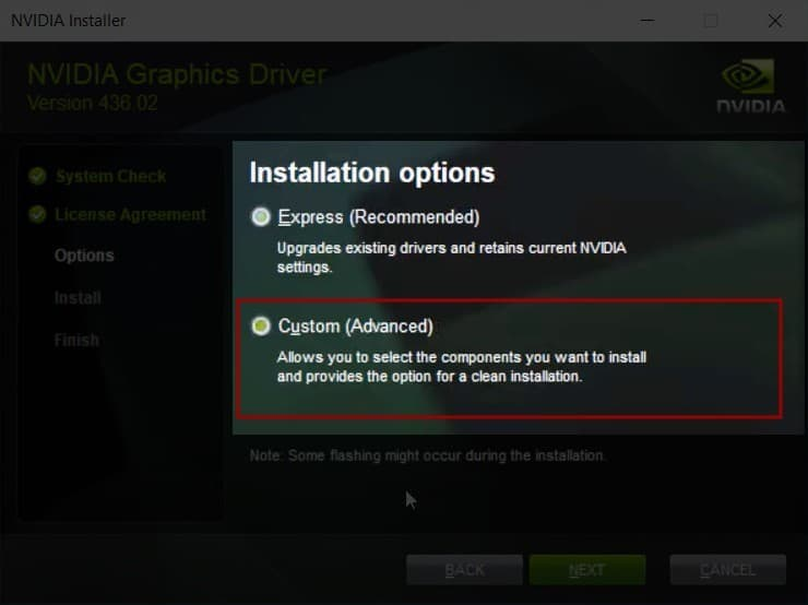 NVIDIA GeForce Experience Installer Custom Installation