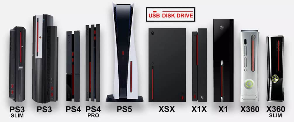 Playstation 5 vs Xbox Series X Disk Drive