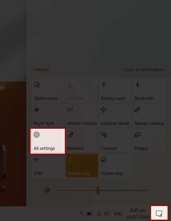 Windows 10 All Settings