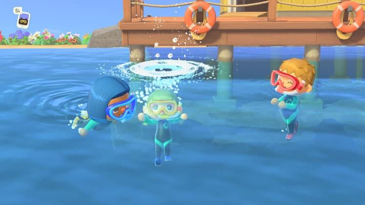 Animal Crossing New Horizon How To Swim