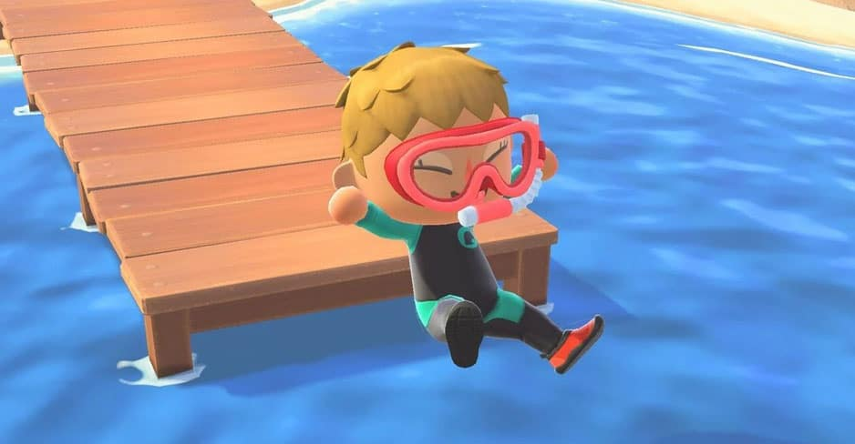 Animal Crossing New Horizons Guide How To Get A Wet Suit & Swim