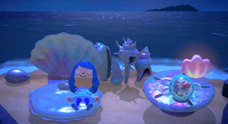 Animal Crossning New Horizons Mermaid DIY Recipe List