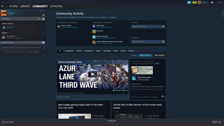 EGS and Steam Social Features