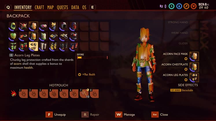 Grounded How To Make Acorn Armor