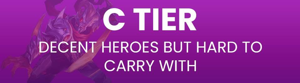 Mobile Legends Tier List Tier C