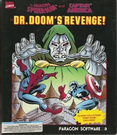 Spider Man and Captain America in Doctor Dooms Revenge