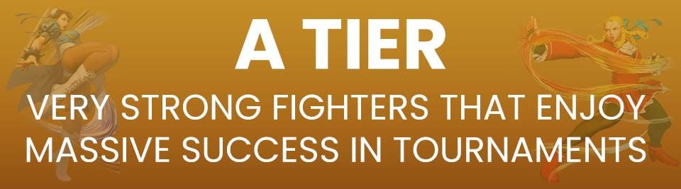 Street Fighter V Tier List A Tier