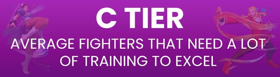 Street Fighter V Tier List Tier C