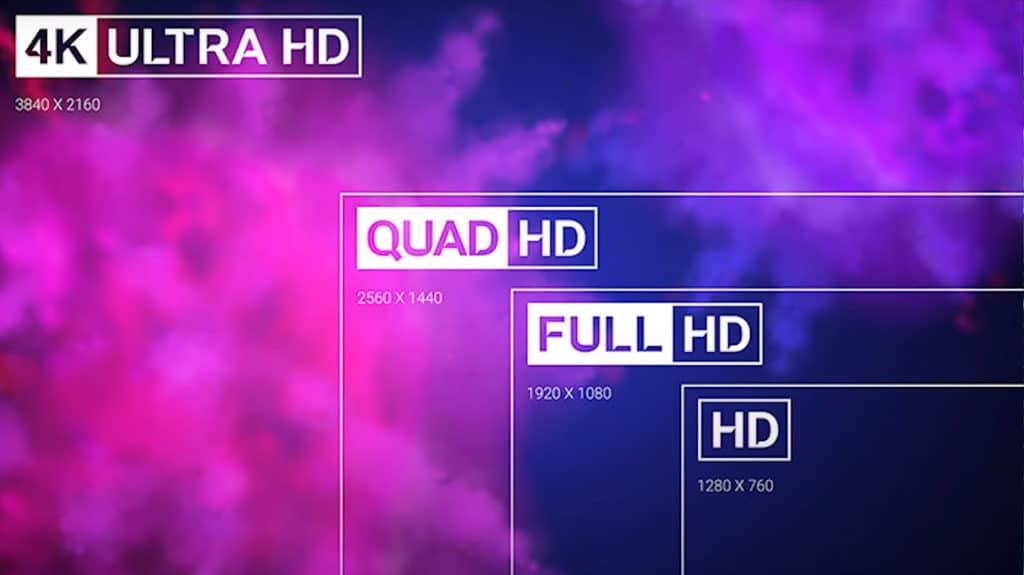 HD vs Full HD vs Quad HD vs Ultra HD