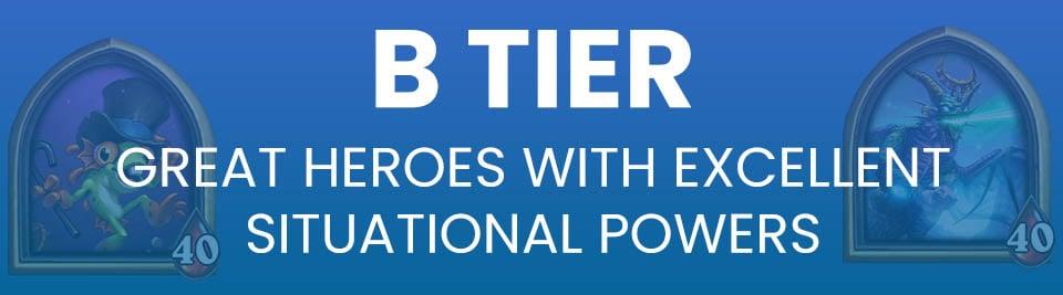 Hearthstone Battlegrounds Tier List Tier B