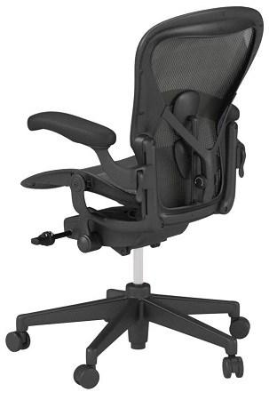 Herman Miller Aeron Chair Behind