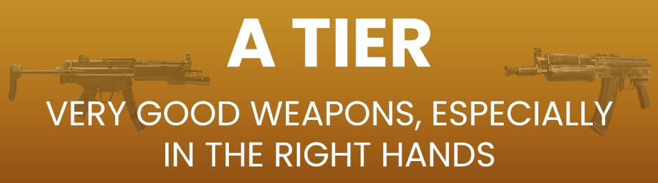 Call of Duty Black Ops Cold War Weapons Tier List Tier A