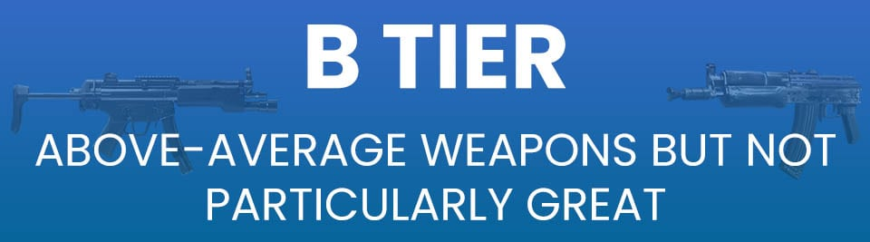 Call of Duty Black Ops Cold War Weapons Tier List Tier B
