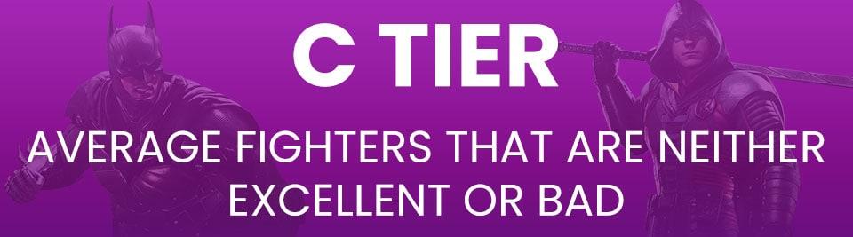 Injustice 2 Tier List Tier C