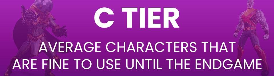 Marvel Strike Force Tier List C Tier