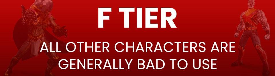 Marvel Strike Force Tier List F Tier