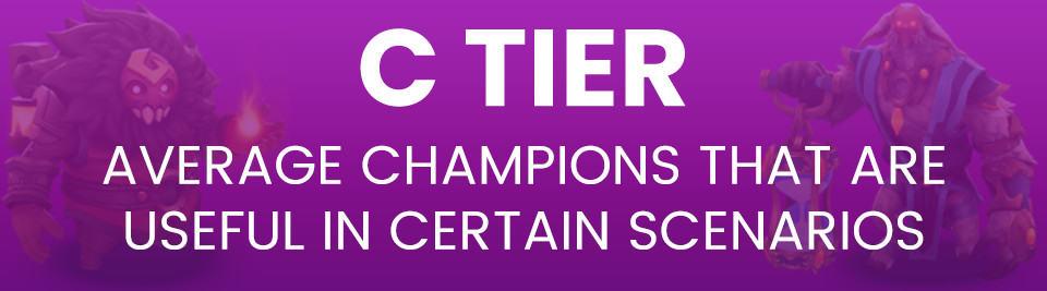 C Tier 1