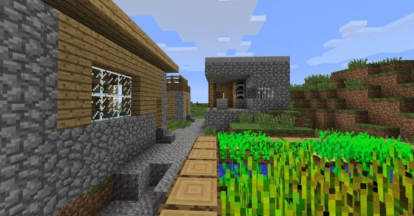 Simple Village at Spawn