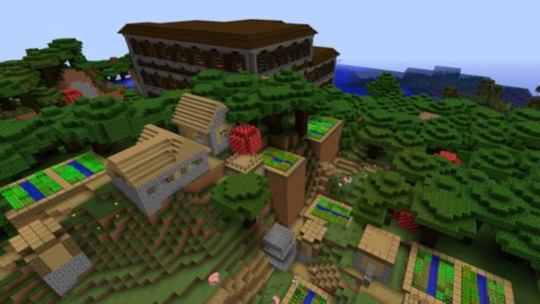 Woodland Mansion with a Village