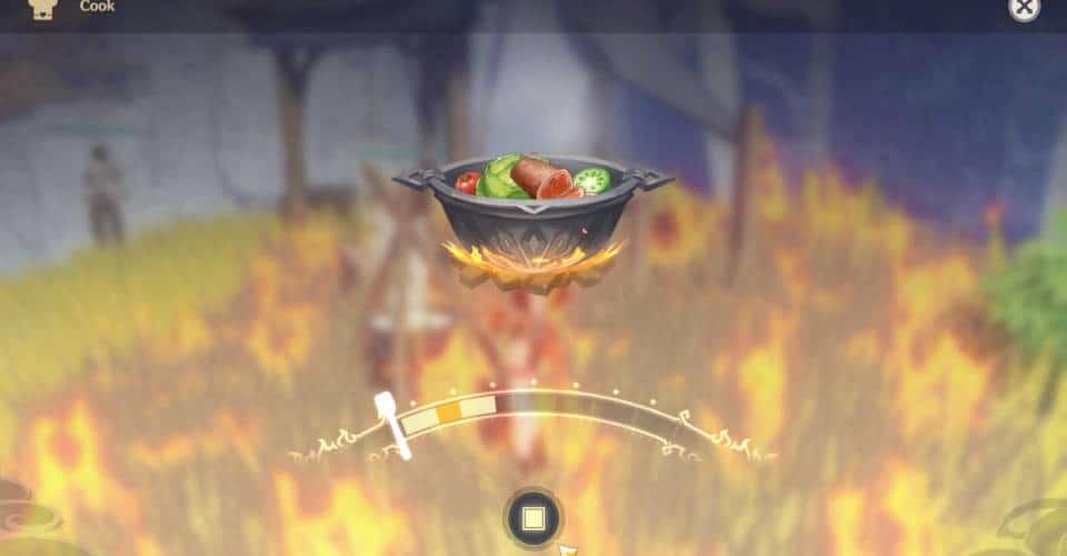 Genshin Impact cooking food