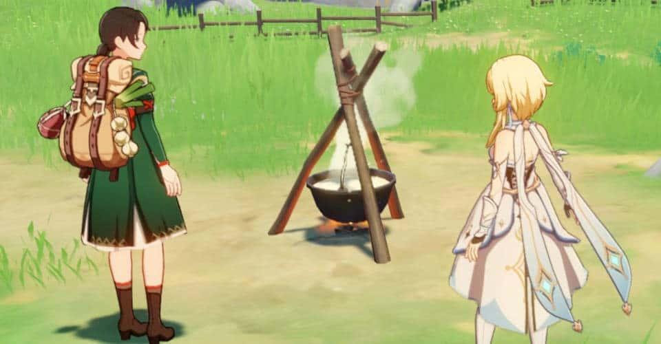 Genshin Impact cooking