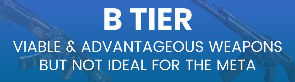 Call of Duty Vanguard Weapon Tier List B